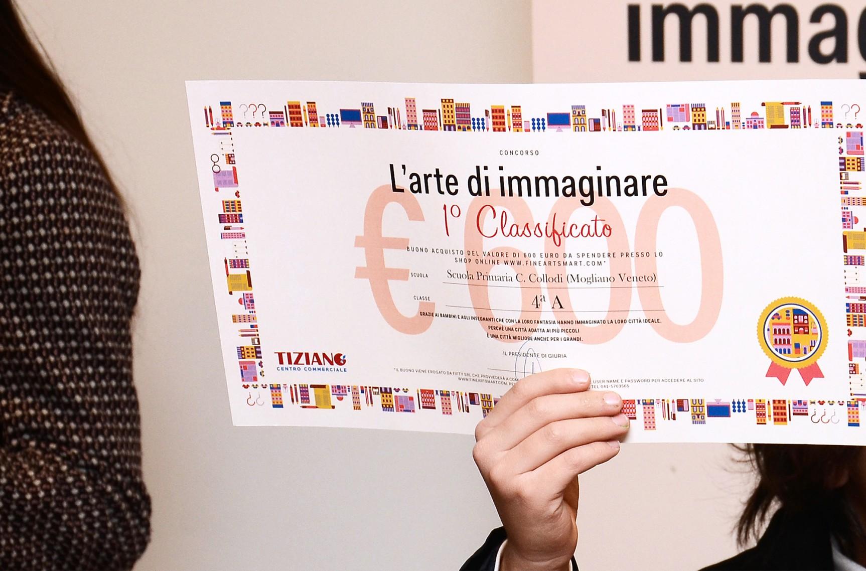Premiazione iniziativa l arte di immaginare for Sinonimo di immaginare